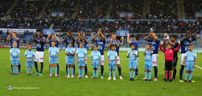 L'équipe du RCSA contre Epinal (de gauche à droite): Lienard, Amofa, Marques, Bahoken, Donzelot, Aguemon, Grimm, Sabo, Sikimic, Gauclin et Seka