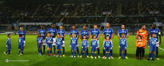 L'équipe du RCSA, de gauche à droite: Marques, N'Diaye, Amofa, Belahmeur, Aguemon, Donzelot, Grimm, Fachan, Gauclin, Seka