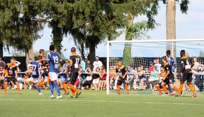 Gaëtan Weissbeck (17) marque le dernier but contre Sarre-Union