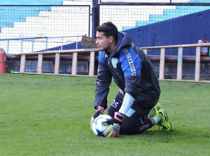 Chila Gómez se lesionó en la pretemporada de Racing del verano pasado, en el predio de la AFA, en Ezeiza.