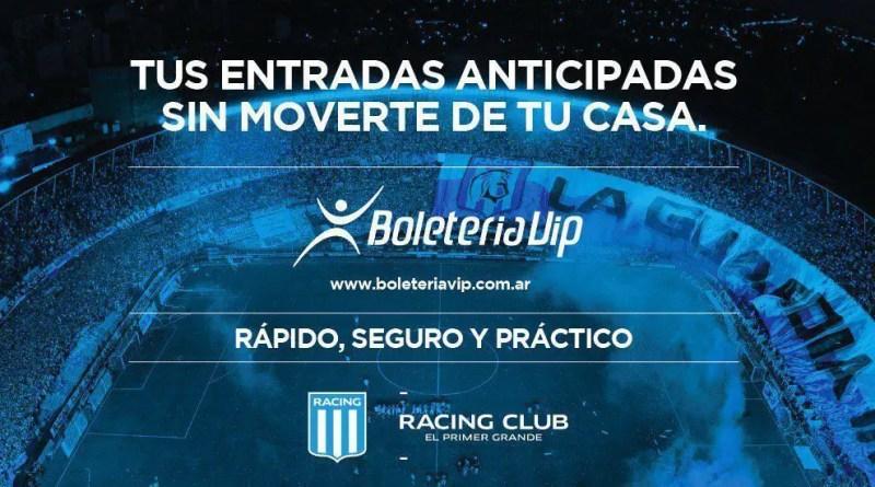 Venta de entradas para Racing – Cruzeiro