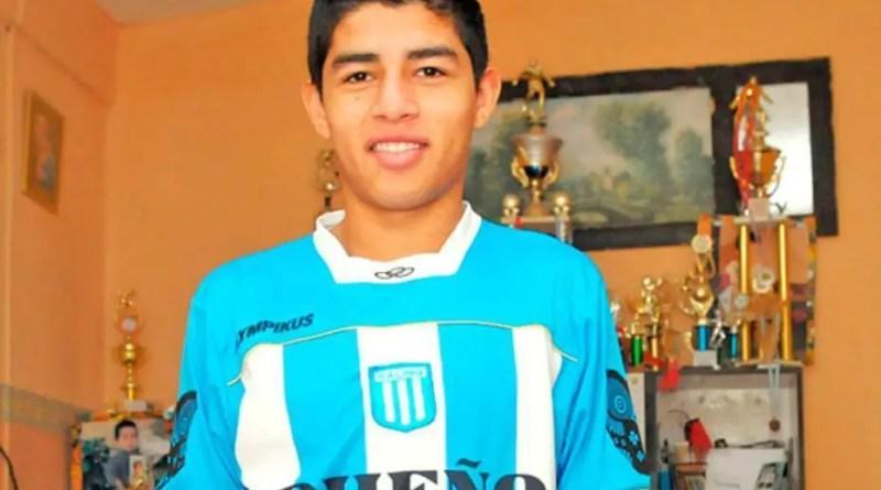 Fernando Valenzuela, con la casaca de Racing. Llegó al club desde Santiago del Estero.