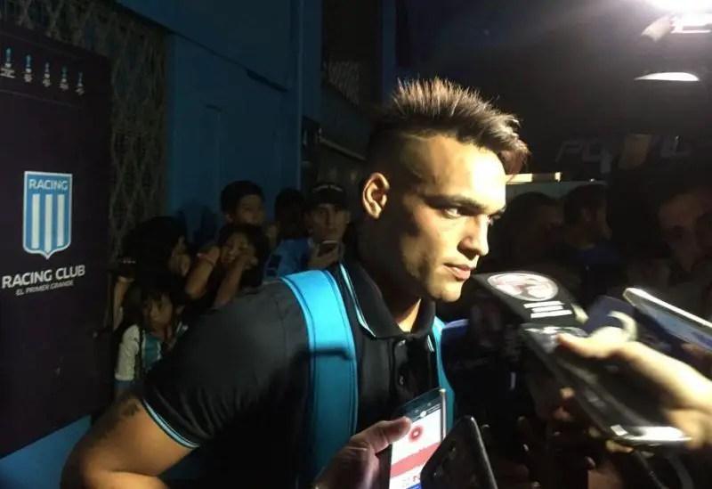 Lautaro Martínez en conferencia de prensa.