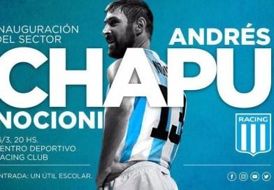 El Chapu Nocioni será homenajeado en Racing