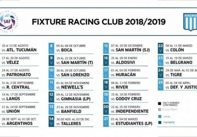 Mucha bronca en Racing por el fixture