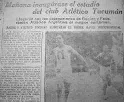 El estadio de Atlético de Tucumán, hace 96 años.
