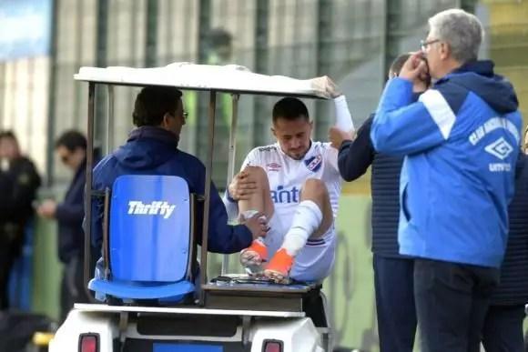 El uruguayo Rodrigo Amaral padeció una grave lesión cuando estaba pasando por un buen momento en Nacional.