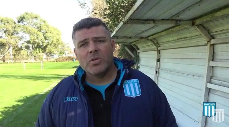Mauro Gerk, técnico de la Reserva de Racing