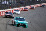 Erik Jones leads a pack of cars. (Photo by Jonathan Daniel/Getty Images)