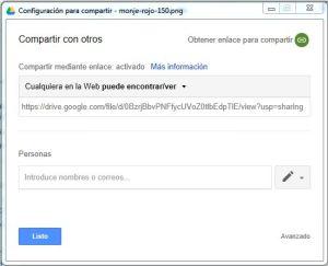 compartir imagen de nuestro google drive en la web