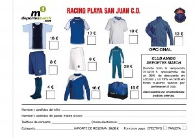 RACING PLAYA FICHA MATERIAL-01