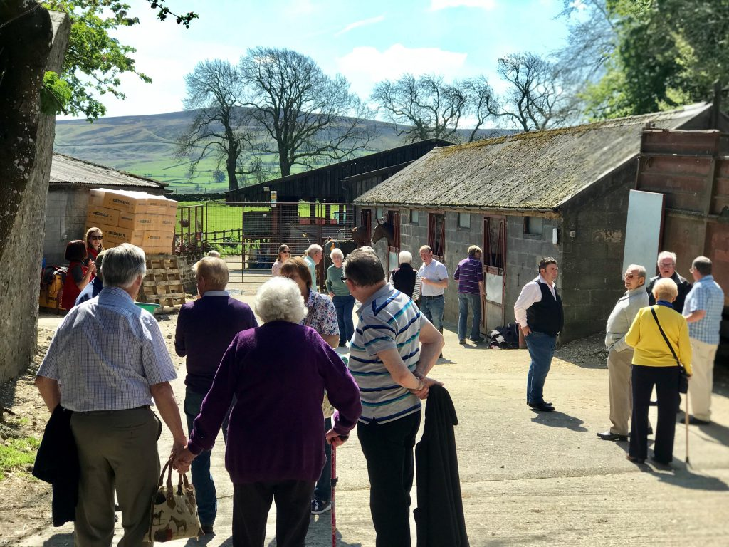 Jedd O'Keeffe Racing Yard Visit for retired Middleham residents