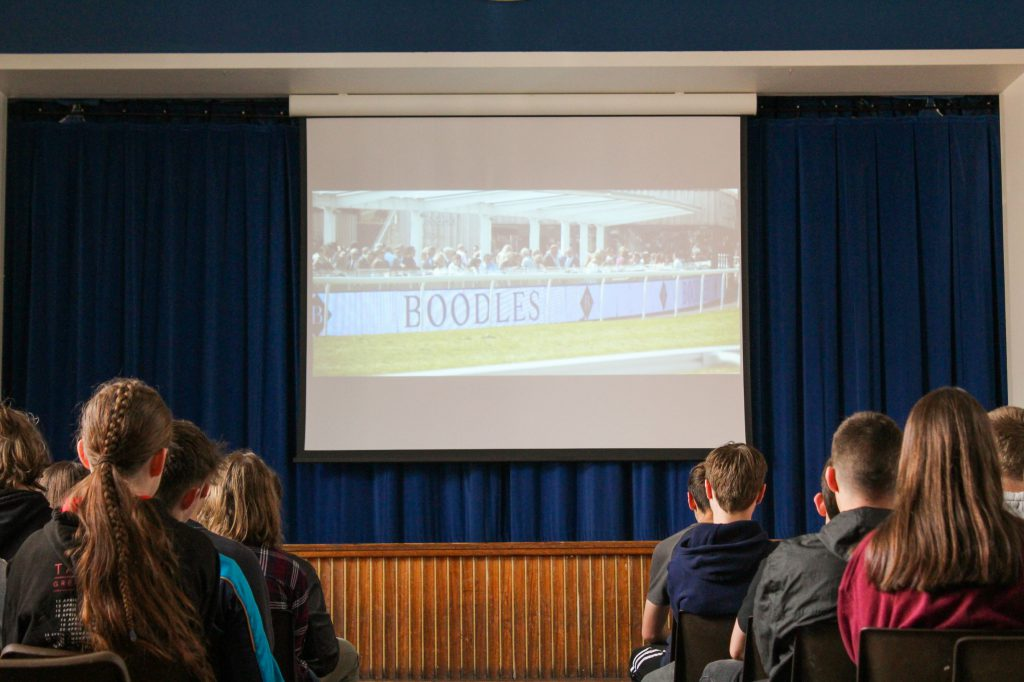 Year 10 students engaging in a careers day thanks to Chester Race Company1