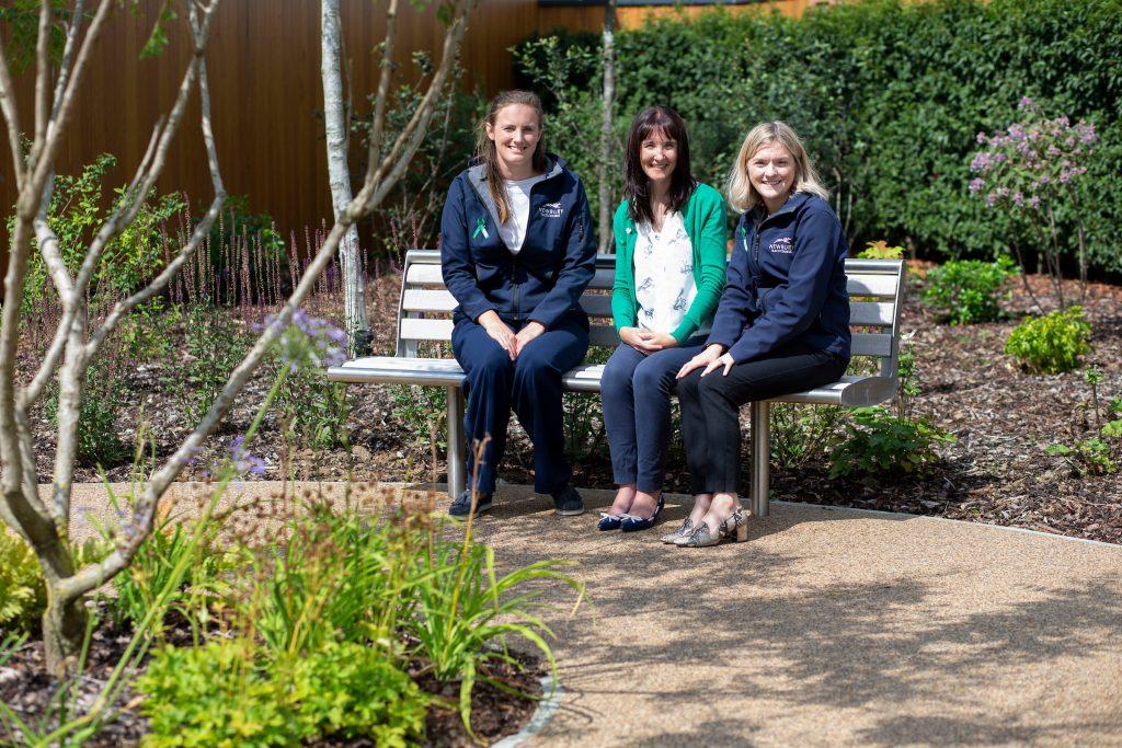 Debbie Matthews and Newbury racecourse team members