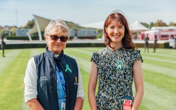Hennie Johnston and Debbie Matthews at Chester Racecourse