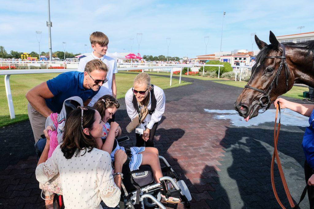September's winner meeting a racehorse