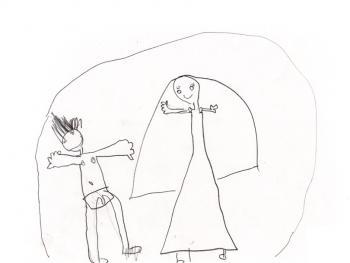 Marina, uma menina de 5 anos, era abusada pelo pai sendo obrigada a assistir a filmes pornográficos.