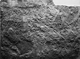 Relevo retratando a conquista da cidade de Laquis pelos Assírios, encontrado no palácio de Senaqueribe em Nínive. Foto: British Museum 2011