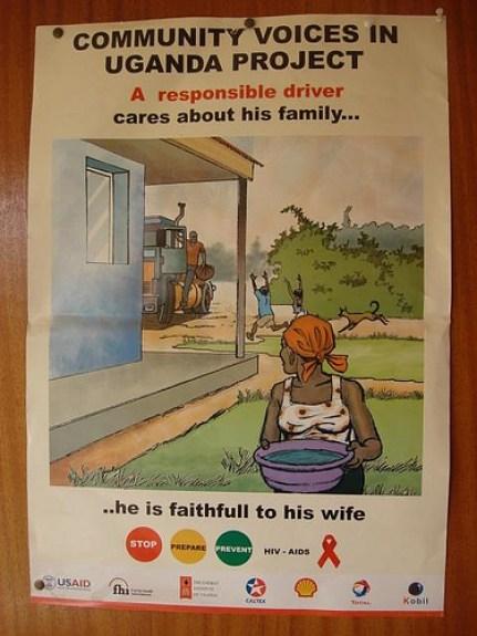 Cartaz do governo de Uganda para moralização das relações entres os casais. Estratégia tem dado resultado. Imagem fonte: Fábio Zanini