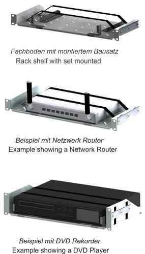 rack cradle tray rack rails