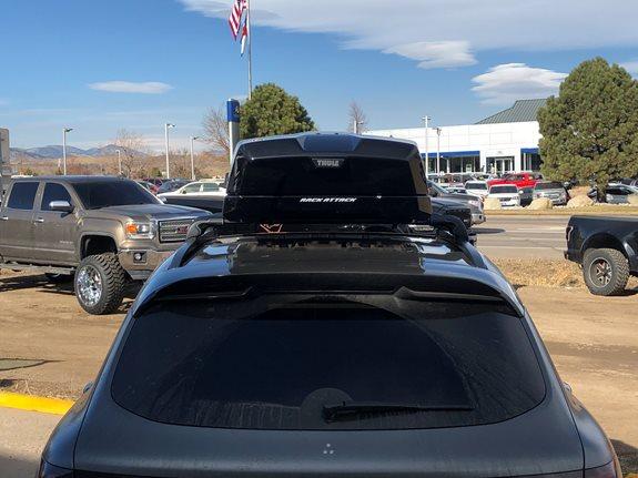 thule aero black wingbars roof rack