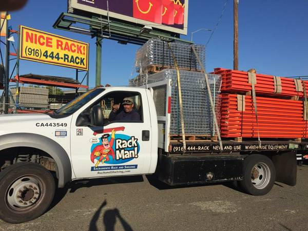pallet rack delivery service 916