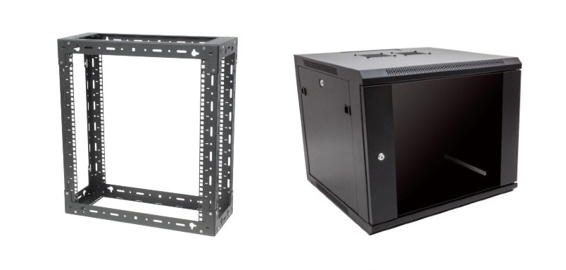 how to install a server wall mount rack