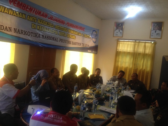 Suasana Rapat Pembentukan Jejaring Pembangunan Berwawasan Anti Narkoba