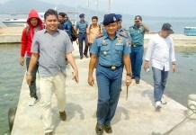 Komandan Pangkalan Angkatan Laut (Danlanal) Banten Kolonel Laut (P) Judijanto bersama rekan media