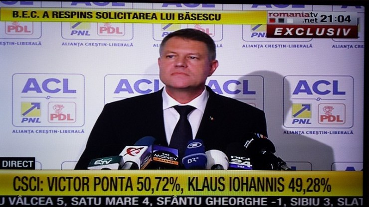 Exit poll ponta iohannis romania tv