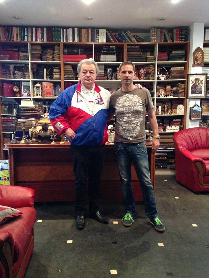 Corneliu Vadim Tudor si Dan Negru  Foto Credit: Facebook - Dan Negru