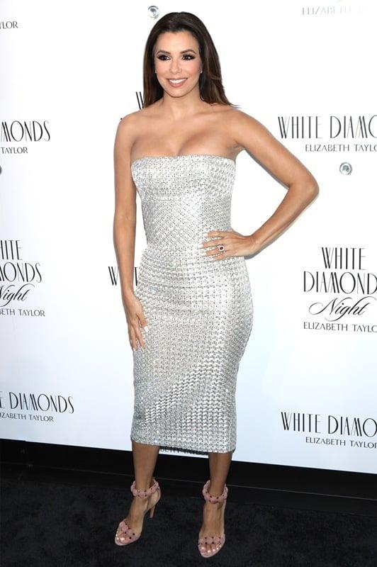 Eva Longoria Hosts Elizabeth Taylor White Diamonds 25th Anniversary Celebration