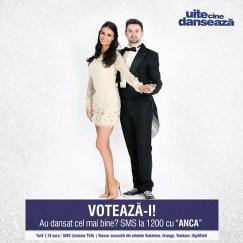 Anca Sina Serea si Nicolai Curnic UITE CINE DANSEAZA PRO TV
