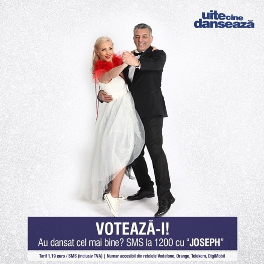 Joseph Hadad si Georgiana Caita UITE CINE DANSEAZA PRO TV