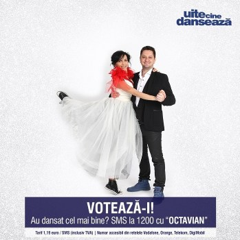 Octavian Strunila si Oana Botez UITE CINE DANSEAZA PRO TV