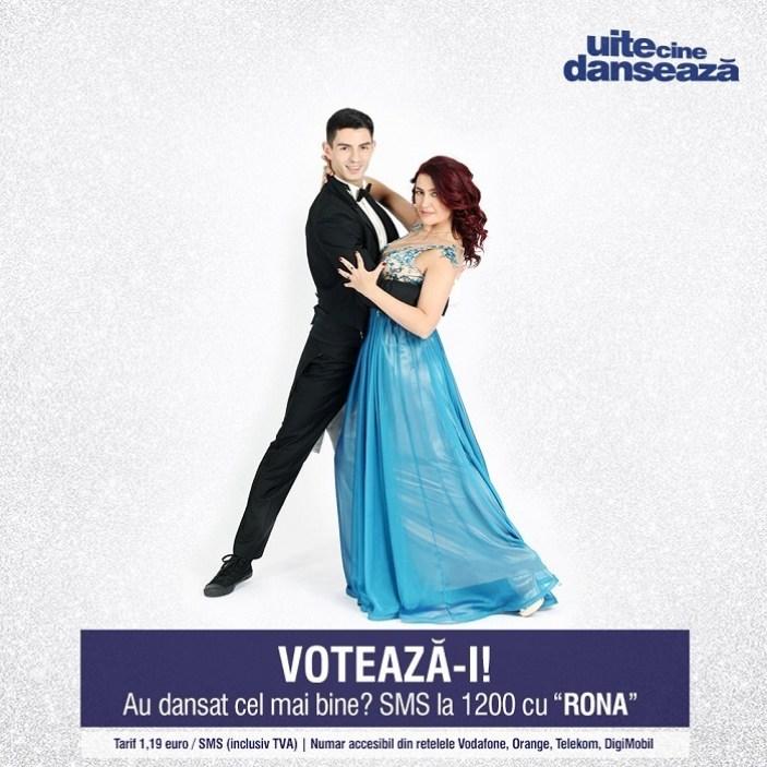 Rona Hartner si Andrei Mangra UITE CINE DANSEAZA PRO TV