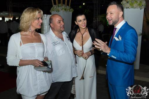 RALUCA GUSLICOV SI NICUSOR STAN - RADAR DE MEDIA SUMMER PARTY