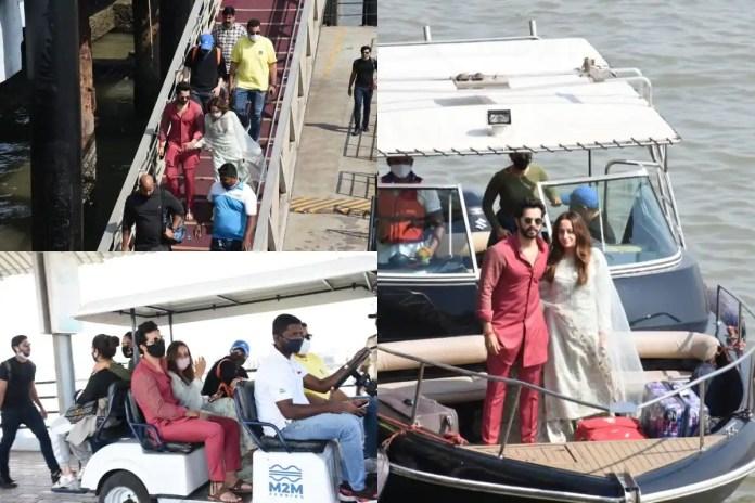 Newlywed Varun Dhawan-Natasha Dalal Head Back To Mumbai Post Wedding in Alibaug