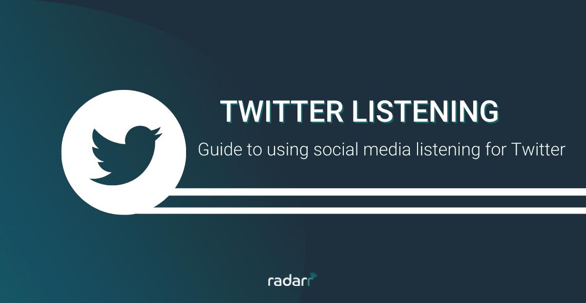 social listening on Twitter
