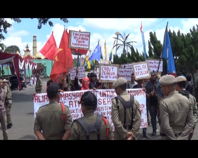 Aliansi Gabungan Masyarakat Sambangi Pemprov Lampung