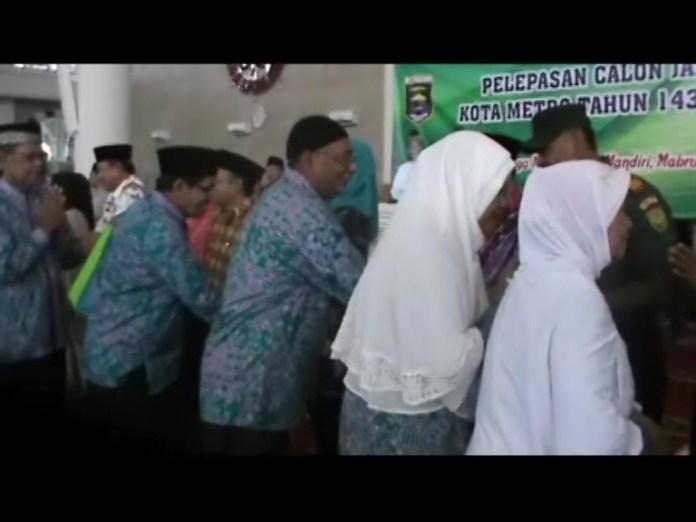 324 Calon Jamaah Haji Resmi di Lepas Oleh Walikota Metro
