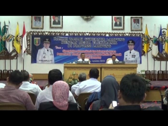 Tingkatkan Sinergitas Pembangunan Pemprov Lampung Rangkul Media Elektronik