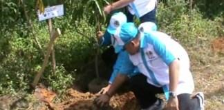 Peringatan Hari Menanam Pohon Walikota Metro Ajak Warga Budayakan Tanam Pohon