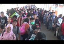 Ribuan Penumpang Kapal Membludak dan Menumpuk di Bakauheni