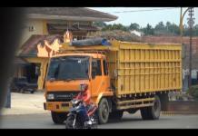 Kendaraan Pengangkut Singkong Sebabkan Kerusakan Jalan