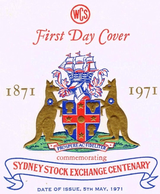 This privately issued Australian cover, also in very high relief, was used on the first day of a stamp honoring the Sydney Stock Exchange.