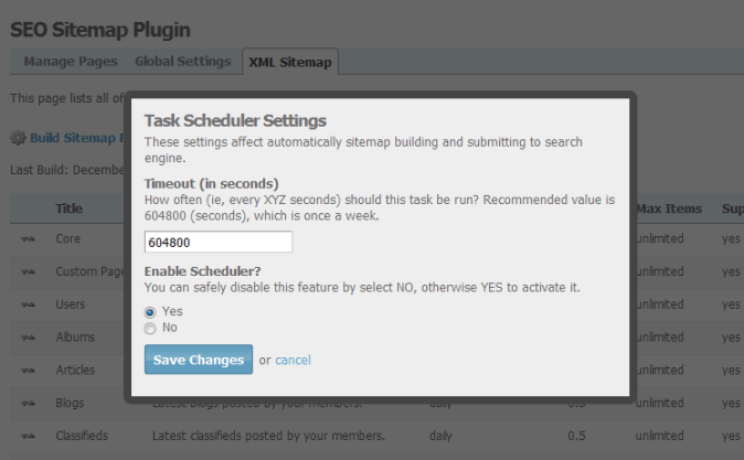 Radcodes   Web Development for SocialEngine Plugins     XML Sitemap Schedule