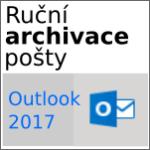 Ruční archivace pošty v [Outlooku 2016]