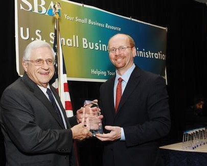 Frank Rose, of Radiance Technologies, receives a Tibbetts Award