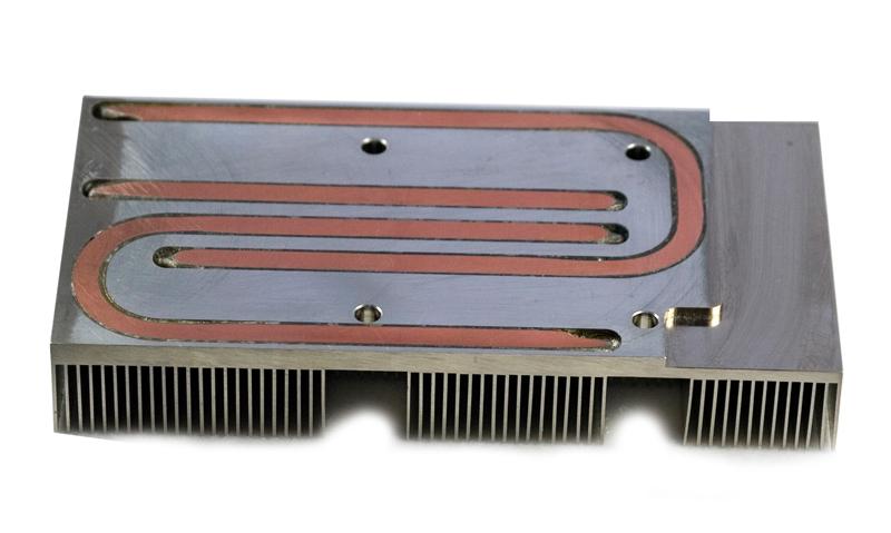 Machined Heatsink with heatpipe